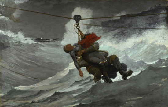 Winslow Homer, The Life Line, 1884. Collection of the Philadelphia Museum of Art.