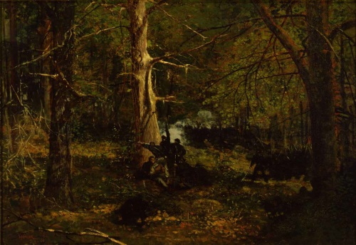 Winslow Homer, Skirmish in the Wilderness, 1864. Collection of the New Britain Museum of American Art.