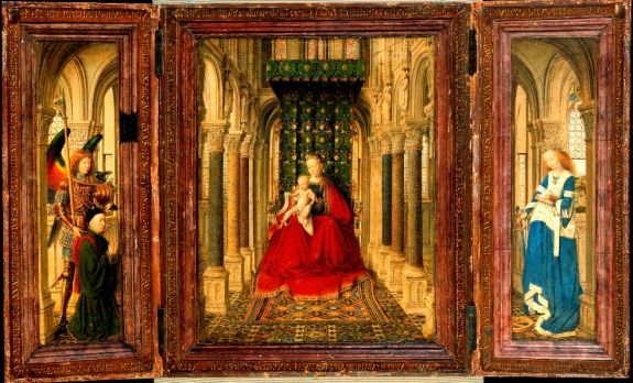 Jan van Eyck, Small Triptych, ca. 1437. Collection of the Gemäldegalerie, Dresden.