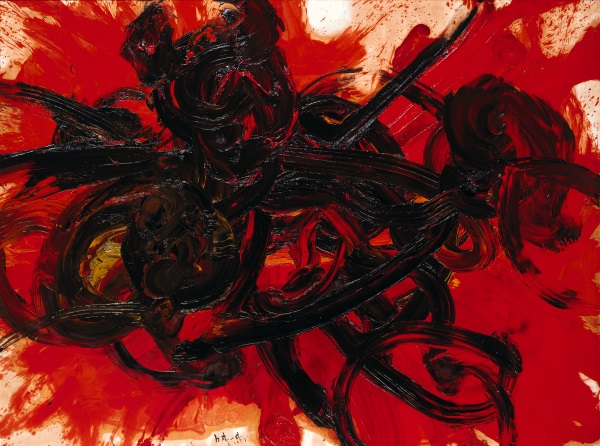 Shiraga Kazuo, Work II, 1958. Collection of the Hyōgo Prefectural Museum of Art, Kobe.