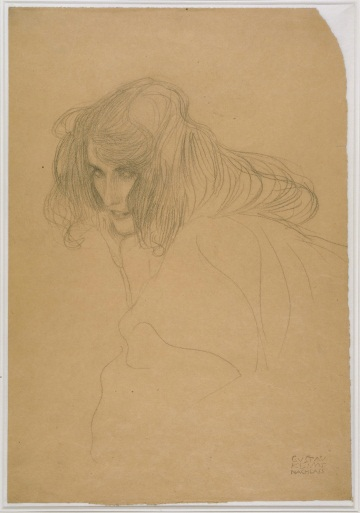 Gustav Klimt, Portrait of a Woman in Three-Quarter Profile, 1901. Collection of the Albertina, Vienna.