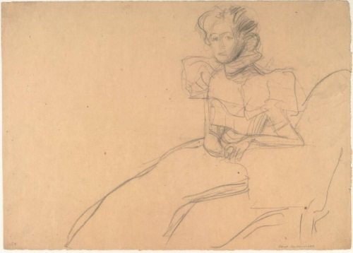 Gustav Klimt, Study for a Portrait of Sonia Knips, 1897-98. Collection of the Albertina, Vienna.