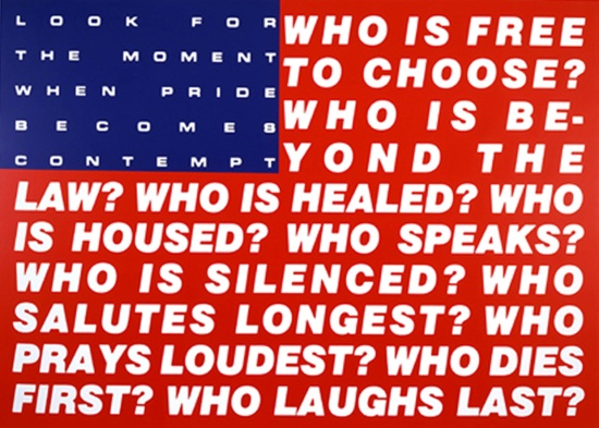 Barbara Kruger, Untitled (Questions), 1991.