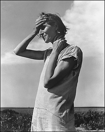 "Dorothea Lange, Woman of the High Plains, ""If You Die, You're Dead–That's All."" Texas Panhandle, 1938. Collection of the Amon Carter Museum of American Art, Fort Worth, Tex."