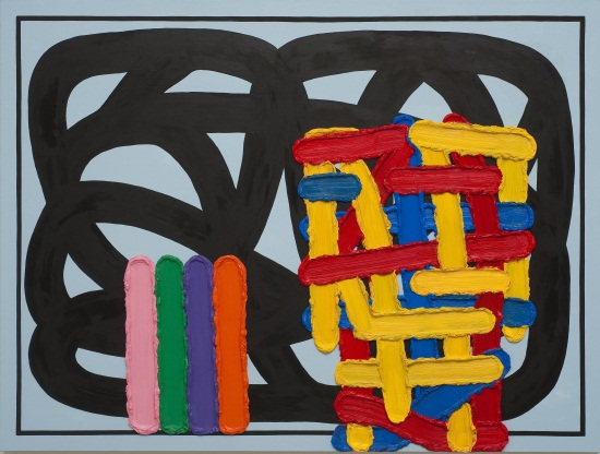 Jonathan Lasker, Love Light and Dark, 2009.