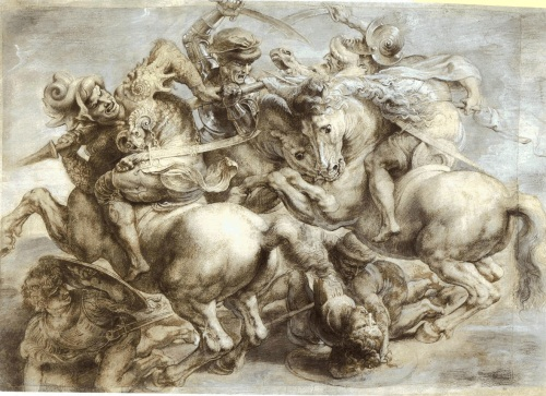 After Leonardo, Detail from a copy of Battle of Anghiari, n.d. Collection of The Louvre, Paris.