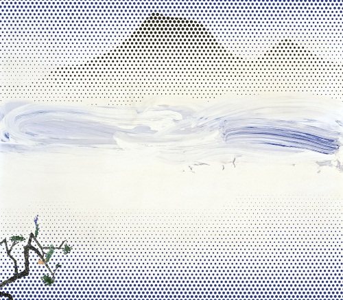 Roy Lichtenstein, Landscape in Fog, 1996.
