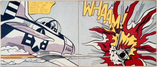 Roy Lichtenstein, Whaam!, 1963. Collection of Tate, London.