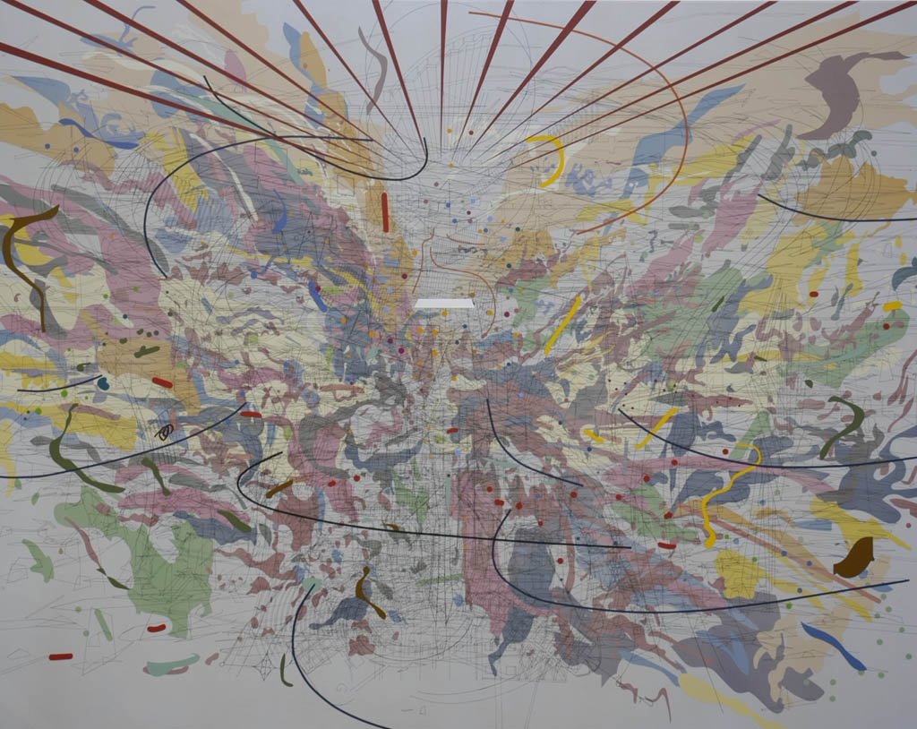 Julie Mehretu, Looking Back to a Bright New Future, 2003.