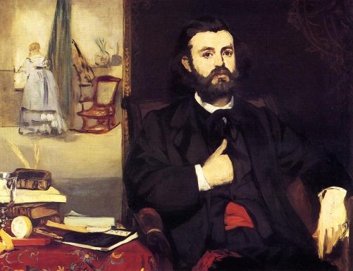 Edouard Manet, Portrait of Zacharie Astruc, 1866. Collection of the Kunsthalle Bremen.