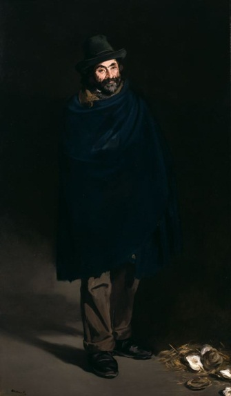 Edouard Manet, Beggar with Oysters (Philosopher), 1865-67. Collection of the Art Institute of Chicago.