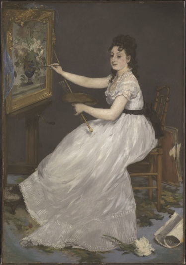 Edouard Manet, Eva Gonzales, 1870. Collection of The National Gallery, London.