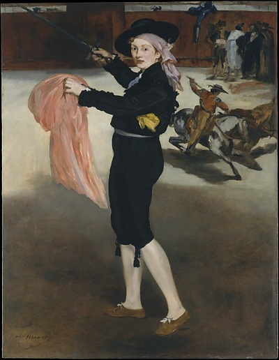 Edouard Manet, Mademoiselle V... in the Costume of an Espada, 1862. Collection of the Metropolitan Museum of Art, New York.