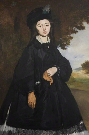 Edouard Manet, Portrait of Mme. Brunet, 1860-63. Collection of the J. Paul Getty Museum, Los Angeles.
