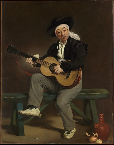 Edouard Manet, The Spanish Singer, 1860. Collection of the Metropolitan Museum of Art, New York.