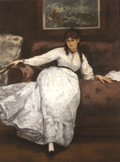 Edouard Manet, The Repose (Portrait of Berthe Morisot), 1870. Collection of the Museum of Art, Rhode Island School of Design, Providence.