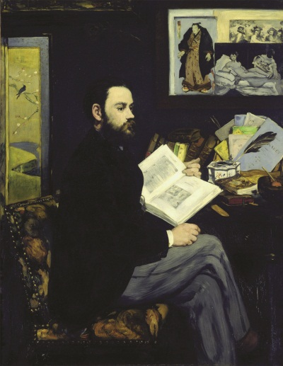 Edouard Manet, Emile Zola, 1868. Collection of the Musee d'Orsay, Paris.