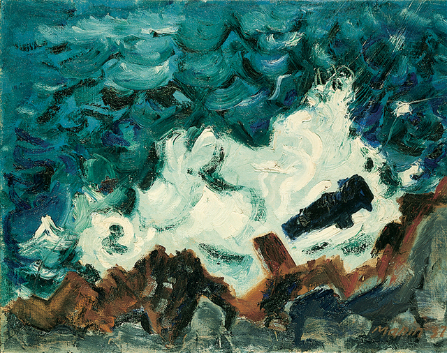 John Marin, Wave on Rock, 1937. Collection of the Whitney Museum of American Art.