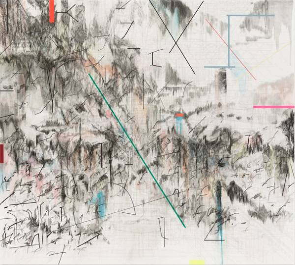 Julie Mehretu, Co-Evolution of the Futurhyth Machine (after Kodwo Eshun), 2013.