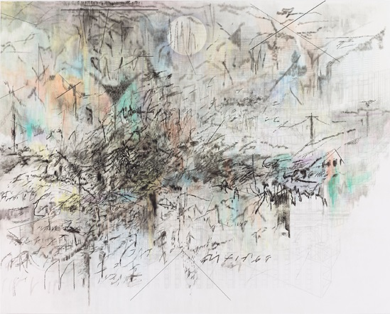 Julie Mehretu, Fever graph (algorithm for serendipity), 2013.