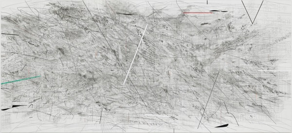 Julie Mehretu, Invisible Line (collective), 2010-2011.