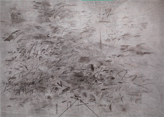 Julie Mehretu, Invisible Sun (Algorithm), 2012.