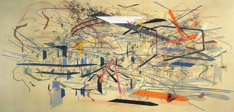Julie Mehretu, Retopistics: A Renegade Excavation, 2001.
