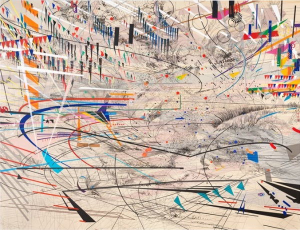 Julie Mehretu, Stadia I, 2004. Collection of the San Francisco Museum of Modern Art.