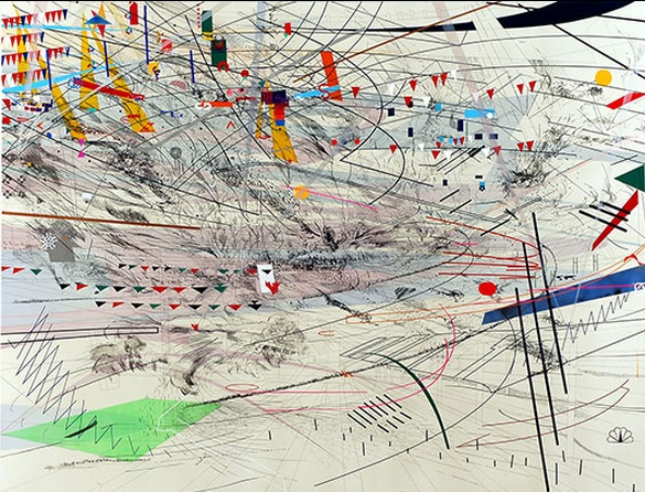 Julie Mehretu, Stadia III, 2004. Collection of the Virginia Museum of Fine Arts, Richmond.