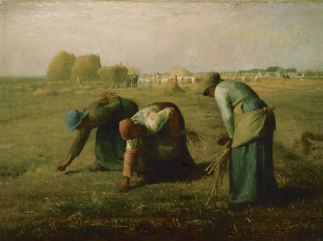 Jean-Francois Millet, The Gleaners, 1857. Collection of the Musee d'Orsay, Paris.