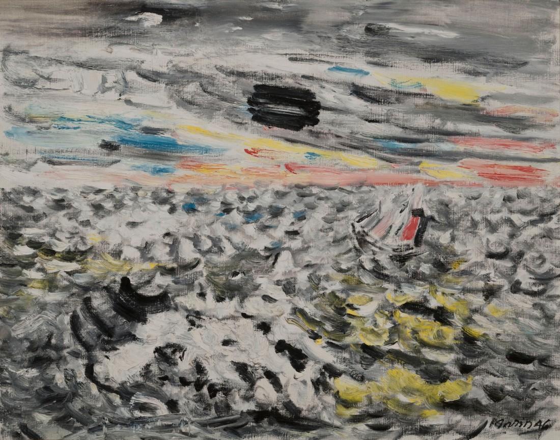 John Marin, Movement in Greys and Yellows, 1946.