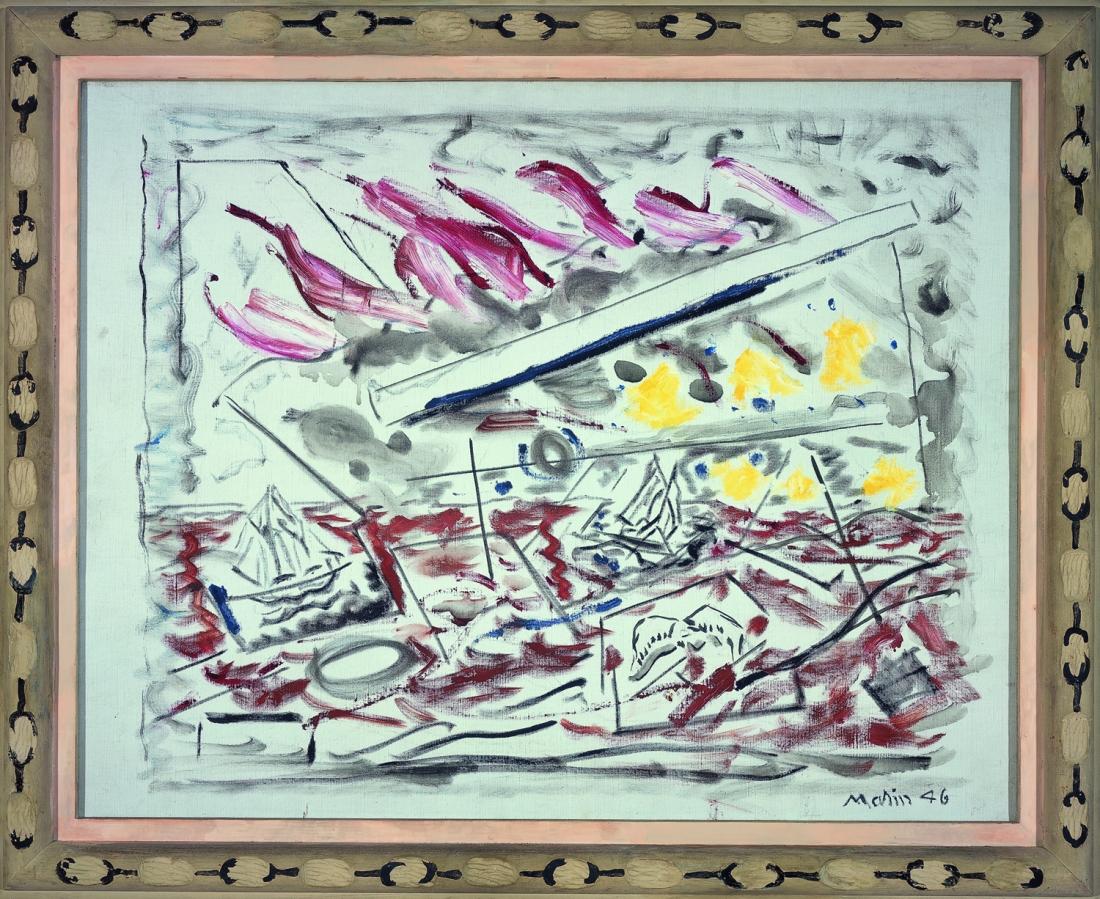 John Marin, Movement in Red, 1946.