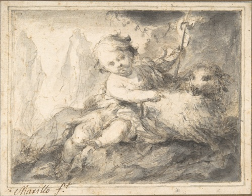 Murillo, The Infant St. John the Baptist. Collection of The Metropolitan Museum of Art, New York.