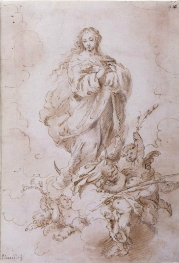 Murillo, Virgin of the Immaculate Conception. Collection of The Morgan Library, New York.