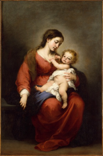 Murillo, Virgin and Child, ca. 1670-72. Collection of The Metropolitan Museum of Art, New York.