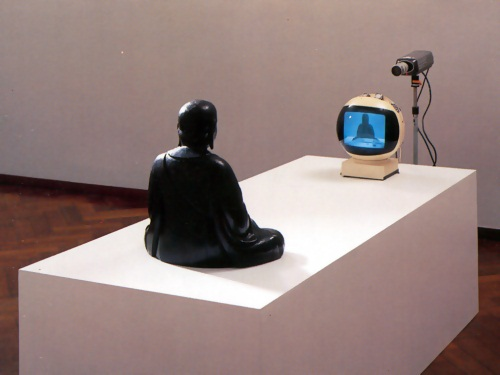 Nam June Paik, TV Buddha, 1974-82.