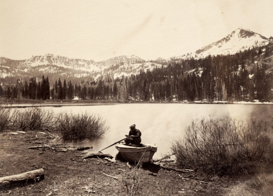 Timothy H. O'Sullivan, Cottonwood Lake, Wasatch Mountains, Utah, 1867. Collection of the Nelson-Atkins Museum, Kansas City, Mo.