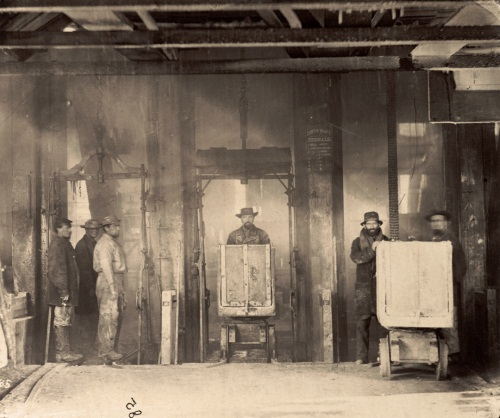 Timothy H. O'Sullivan, Shaft of Savage Mine, Virginia City, Nevada, 1868. Collection of the Nelson-Atkins Museum, Kansas City, Mo.