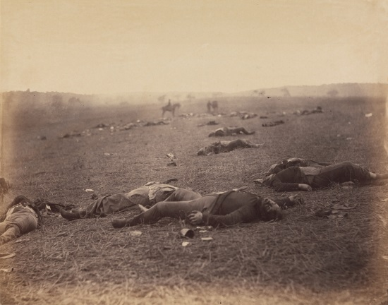 Timothy O'Sullivan, A Harvest of Death, Gettysburg, July 1863. Collection of The Metropolitan Museum of Art, New York.