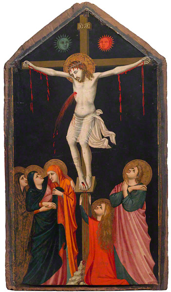 Pacino di Bonaguida, The Crucifixion, about 1315-40. Collection of Fondazione di Studi di Storia dell'Arte Roberto Longhi di Firenze.