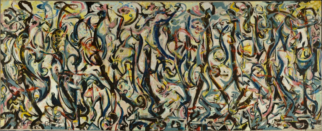 Jackson Pollock, Mural, 1943. Collection of the University of Iowa Museum of Art.