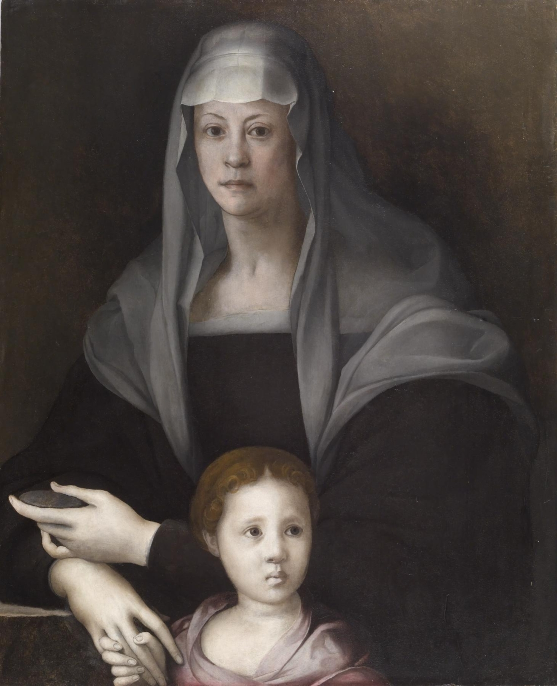 Jacopo Pontormo, Portrait of Maria Salviati de' Medici and Giulia de' Medici, ca. 1539. Collection of the Walters Art Museum.