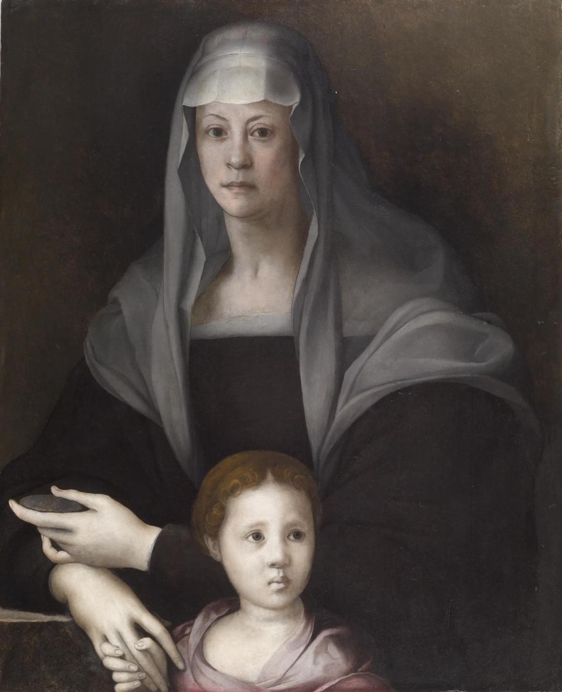 Jacopo Pontormo, Portrait of Maria Salviati de' Medici and Giulia de' Medici, ca. 1539. Collection of the Walters Art Museum.