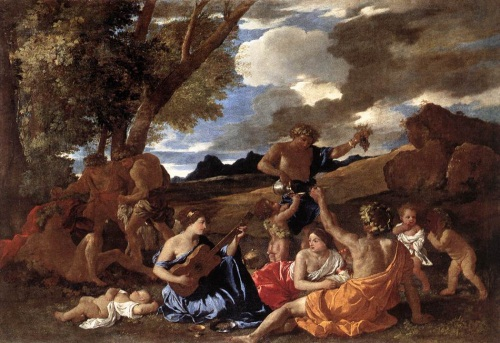 Poussin, Andrians or The Great Bacchanal, 1628. Collection of the Louvre, Paris.
