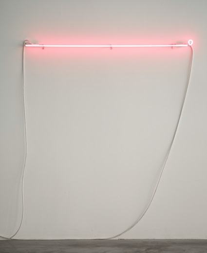 William Powhida, A Hypothetical Phrase or Word in Neon, 2013.