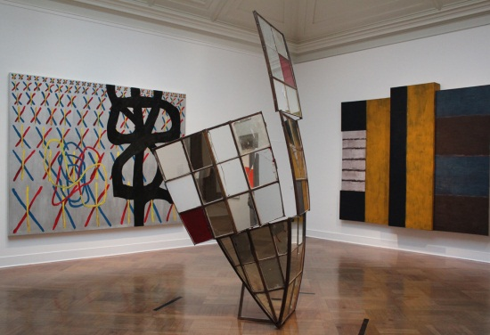 Installation view of Corcoran Gallery of Art. At left: Jonathan Lasker, The Realm of the Quaint, 1988. Collection of the Corcoran Gallery of Art, Washington.
