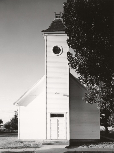 "Robert Adams, Methodist church, Bowen, Colorado, from the series ""The Plains,"" 1965-73."