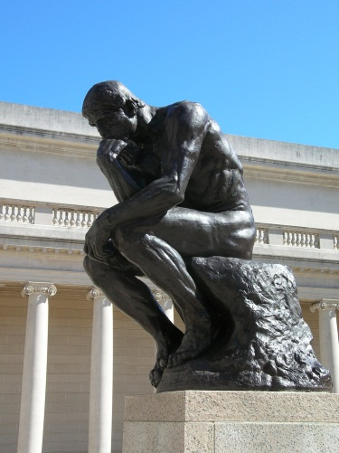 Auguste Rodin, The Thinker, ca. 1880, cast 1904. Collection of the Fine Arts Museums of San Francisco. Photo via Flickr user Stephen Rees.