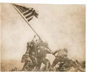 Joe Rosenthal, Old Glory Goes Up on Mount Suribachi, Iwo Jima, February 23, 1945. Collection of the MFA Houston.