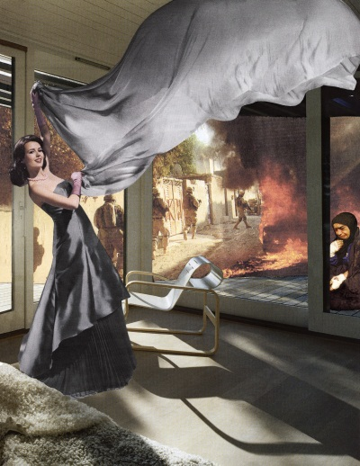 Martha Rosler, Gray Drape, 2008. Collection of the Hirshhorn Museum and Sculpture Garden, Washington.